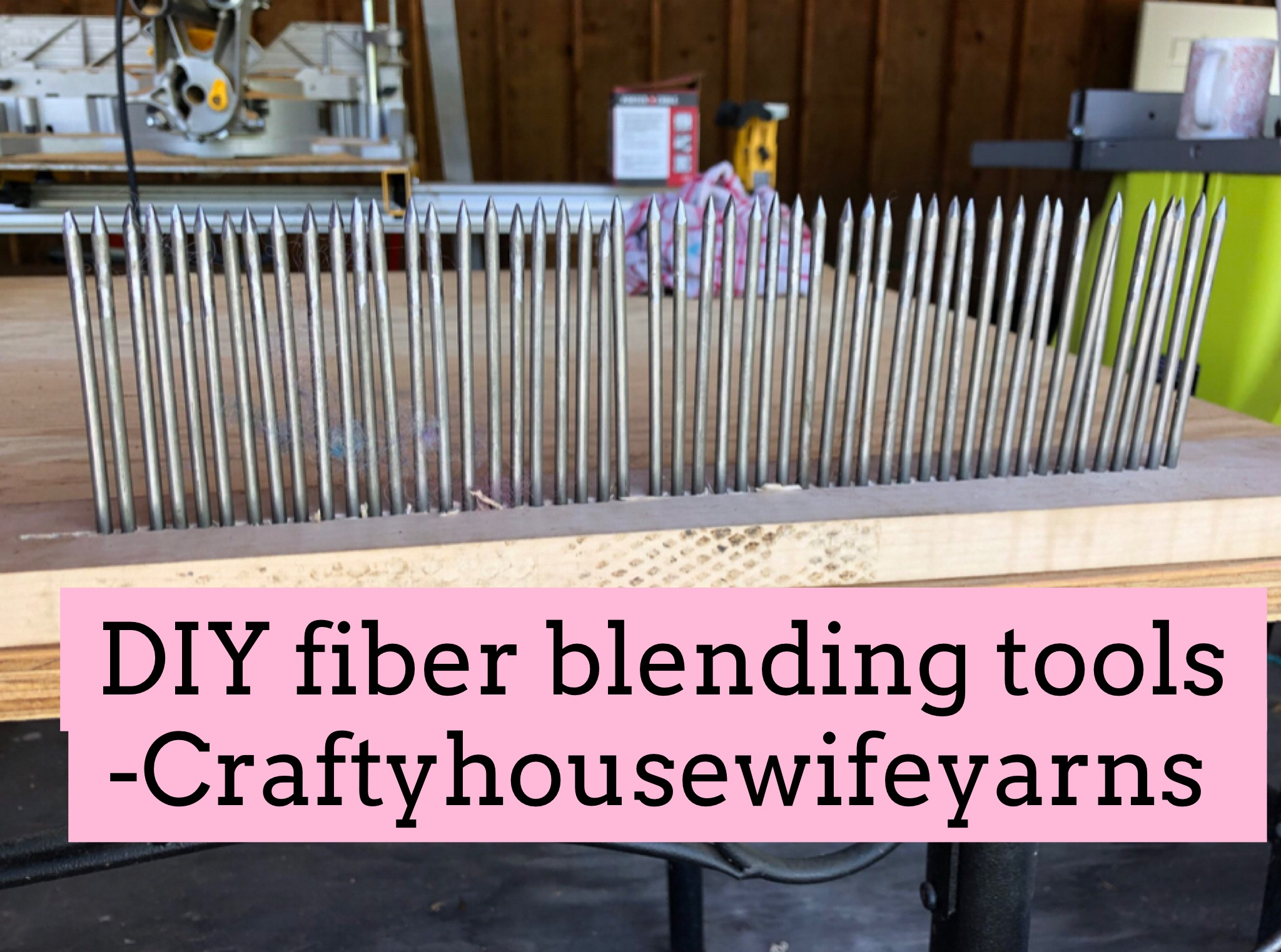 DIY fiber blending tools blog post