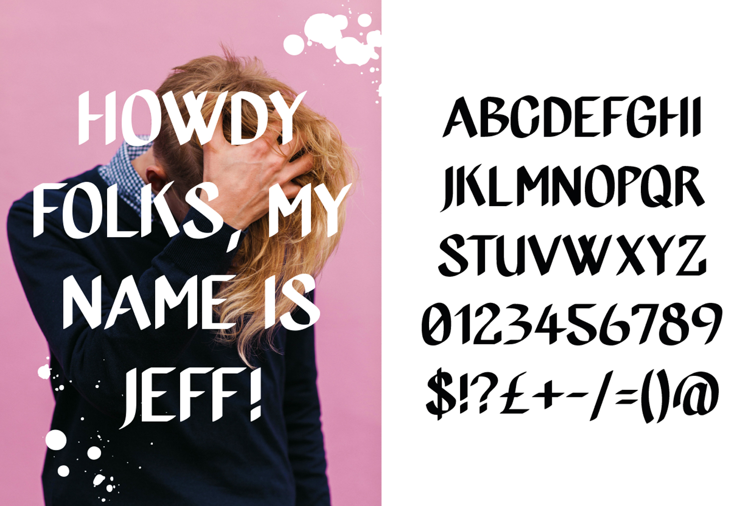 JEFF, an uppercase display font