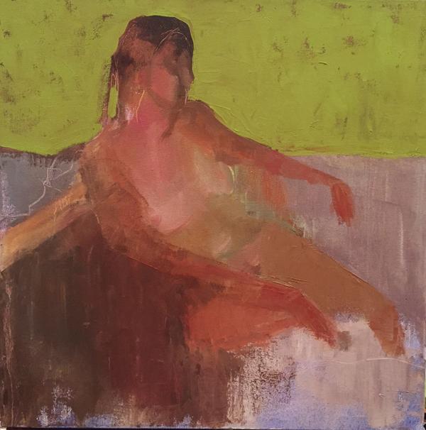 "Dream, Oil on canvas, 20""x20"", $750"
