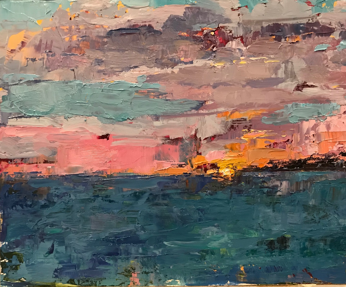 "Last light, Cape May, Oil on board, 8""x10"", $550, SOLD"