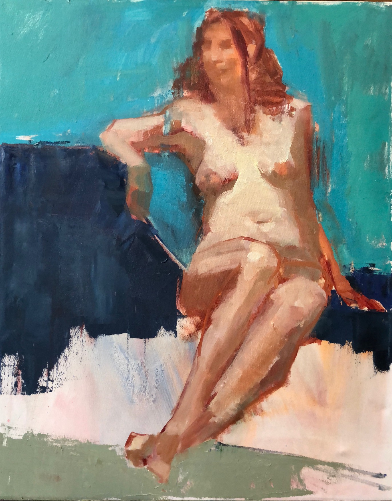 "Study, Oil on canvas, 16""x20"", $700"