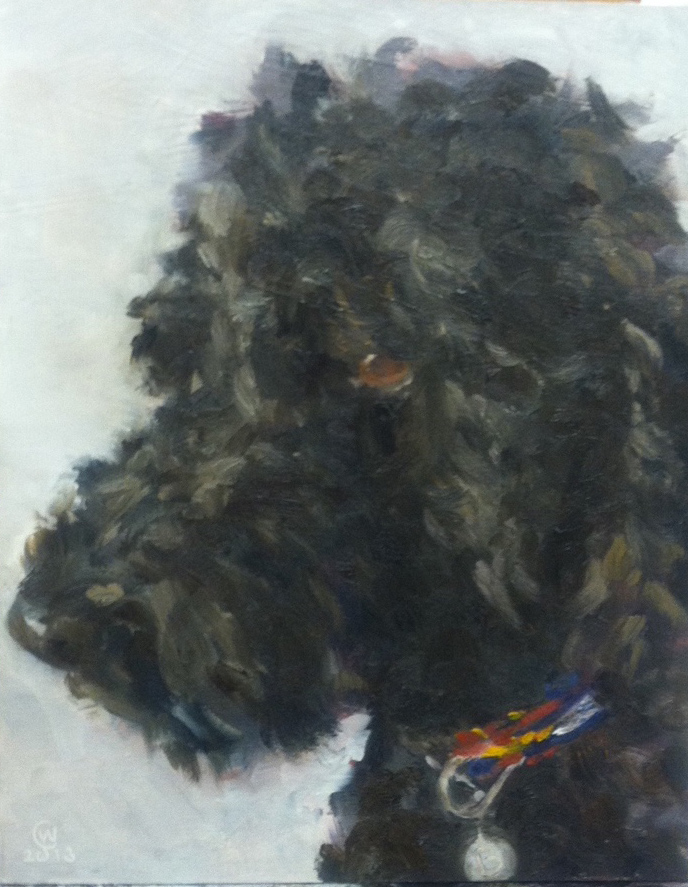 """Barkley, Oil on board, 8""""x 10"""", collection of the artist"""