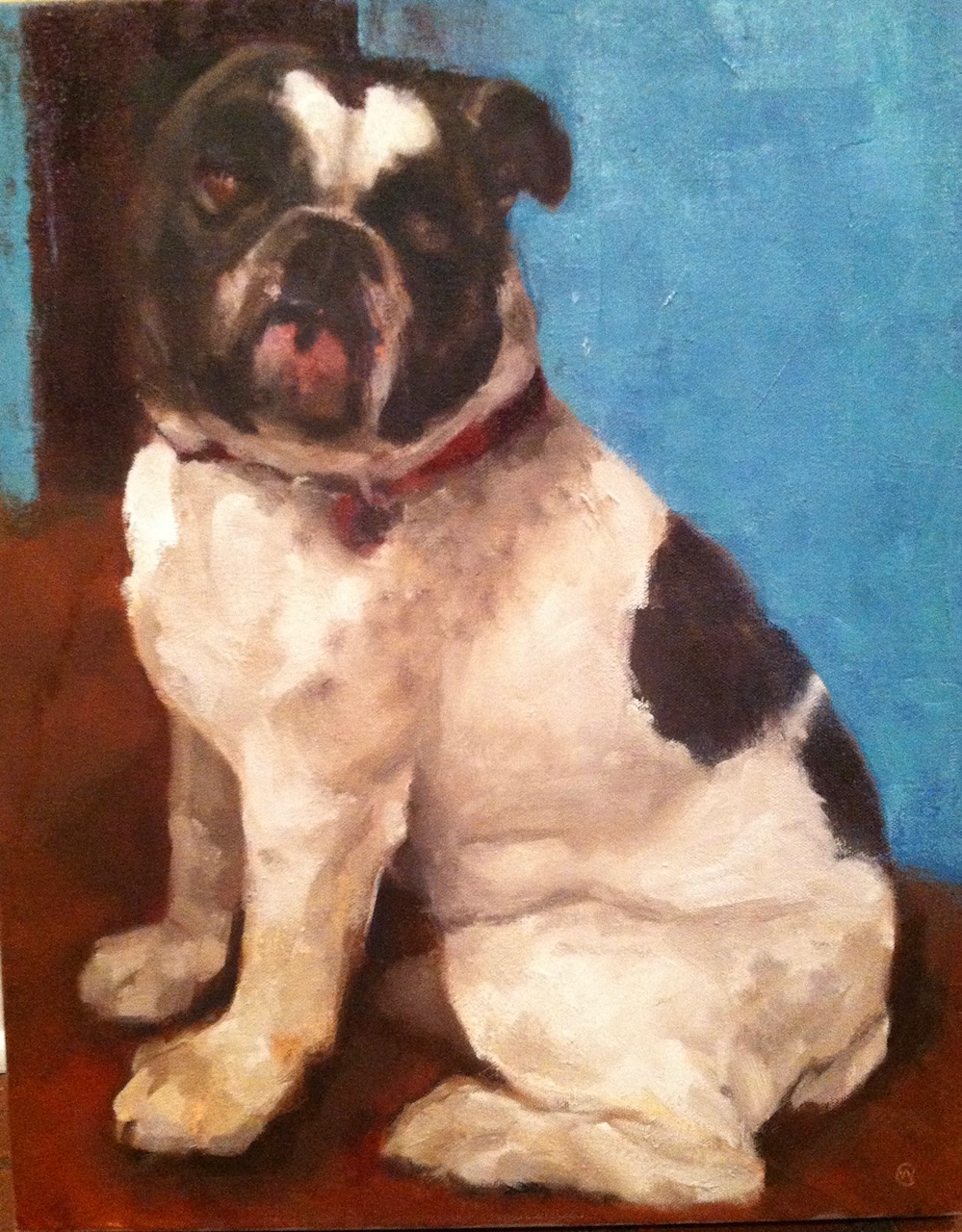"""Wellie, Oil on canvas, 20""""x 24"""", $850, SOLD"""