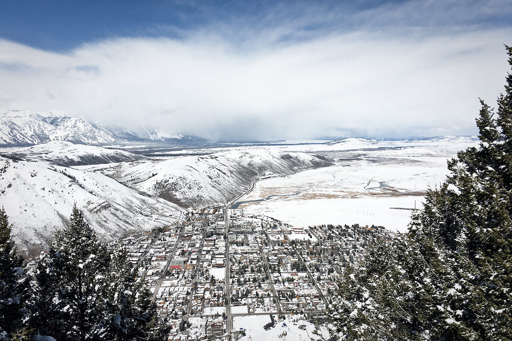 Jackson Hole as seen from the top of Snow King Mountain