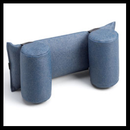 Neckrest with 2 Round Bolsters