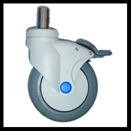 Caster 5 Total Lock Stainless Steel