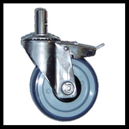 Caster Total Lock Stainless Steel Bari
