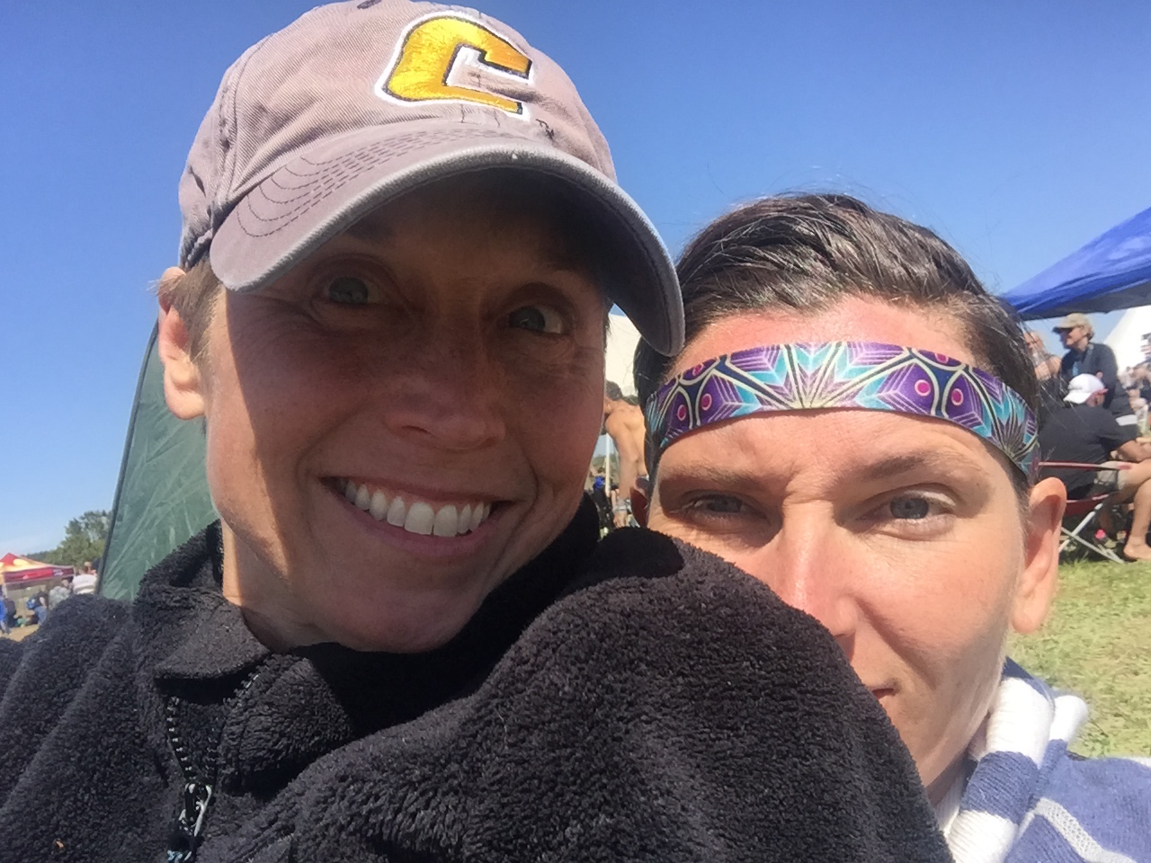 Candace and me after the Savage Race