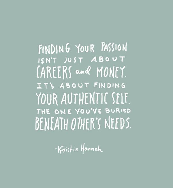 authentic self passion