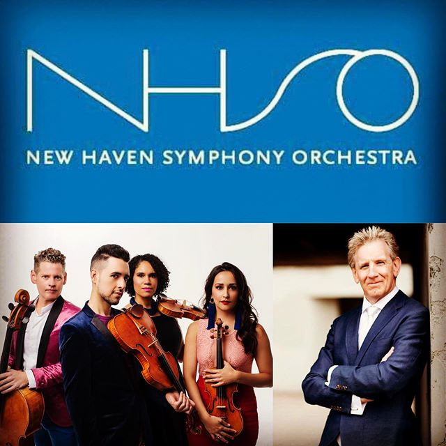 Up next, 2 quartet concertos as we open the 126th season of the New Haven Symphony with Alasdair Neale conducting on 9/26. #catalystquartet #newhavensymphonyorchestra #concerto #stringquartet #orchestra #seasonopener #violin #viola #cello #newhaven #connecticut #exciting #nextweek #solo
