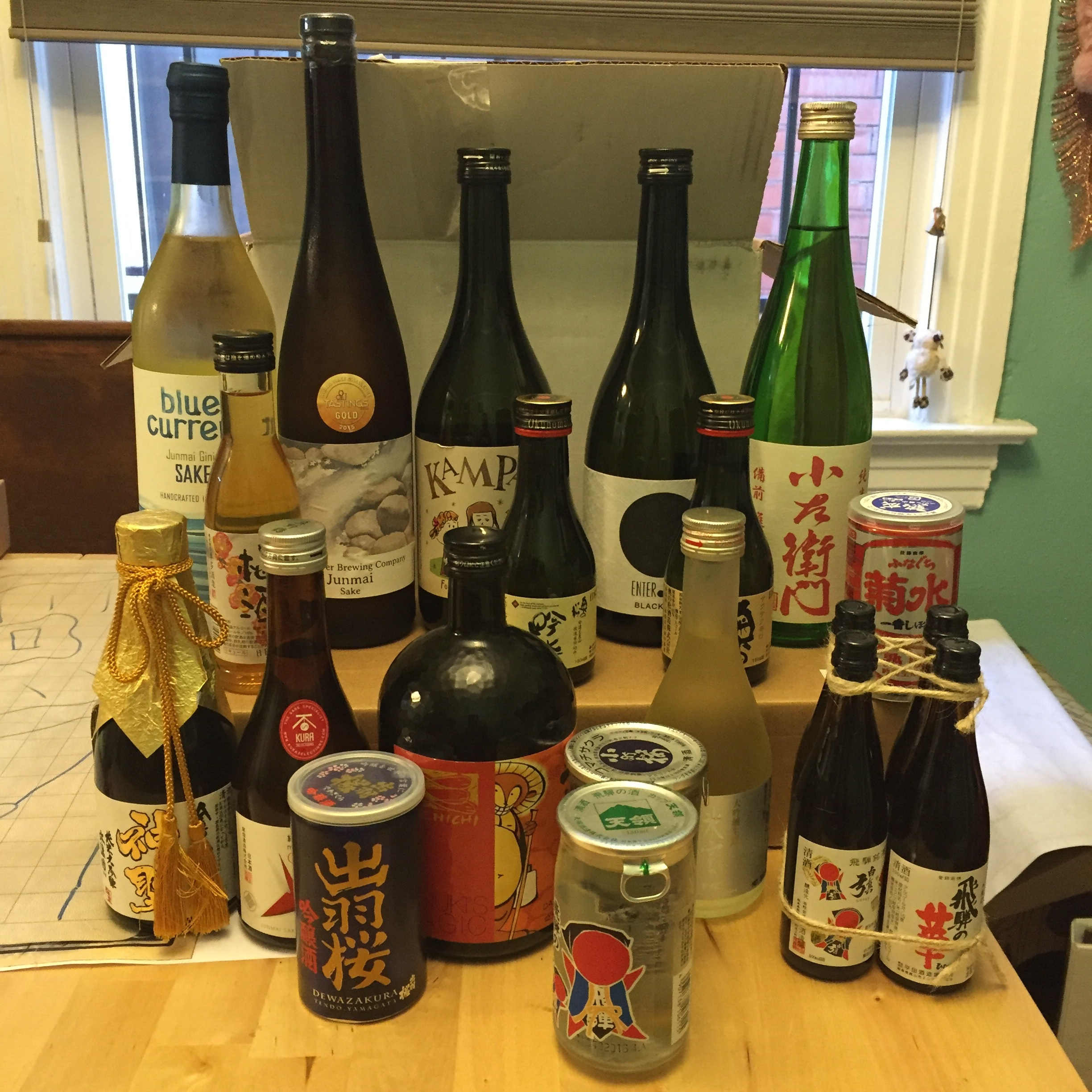 Some of this year's sake selection