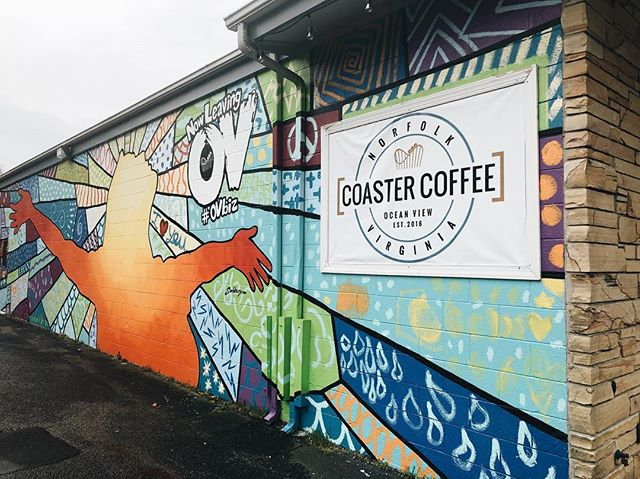 You know that colorful building on Tidewater Dr.? Well, that's us, and we'd love to have you stop by and meet us next time you're in the area!  #coastercoffee#coffee#coffeeshop#norfolk#norfolkva#navalstationnorfolk#norfolkvirginia#va#virginia#oceanview#oceanviewbeach#vabeach#peopleofcoaster
