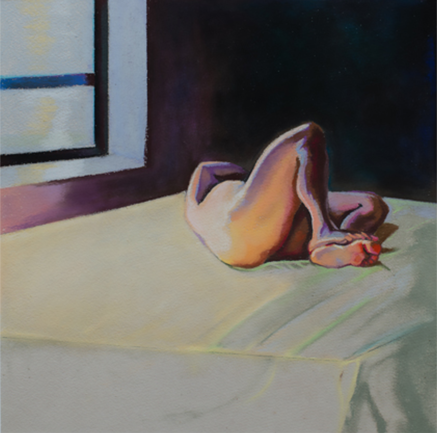 """Pastel Nude #3 14"""" by 16"""" pastel on paper"""