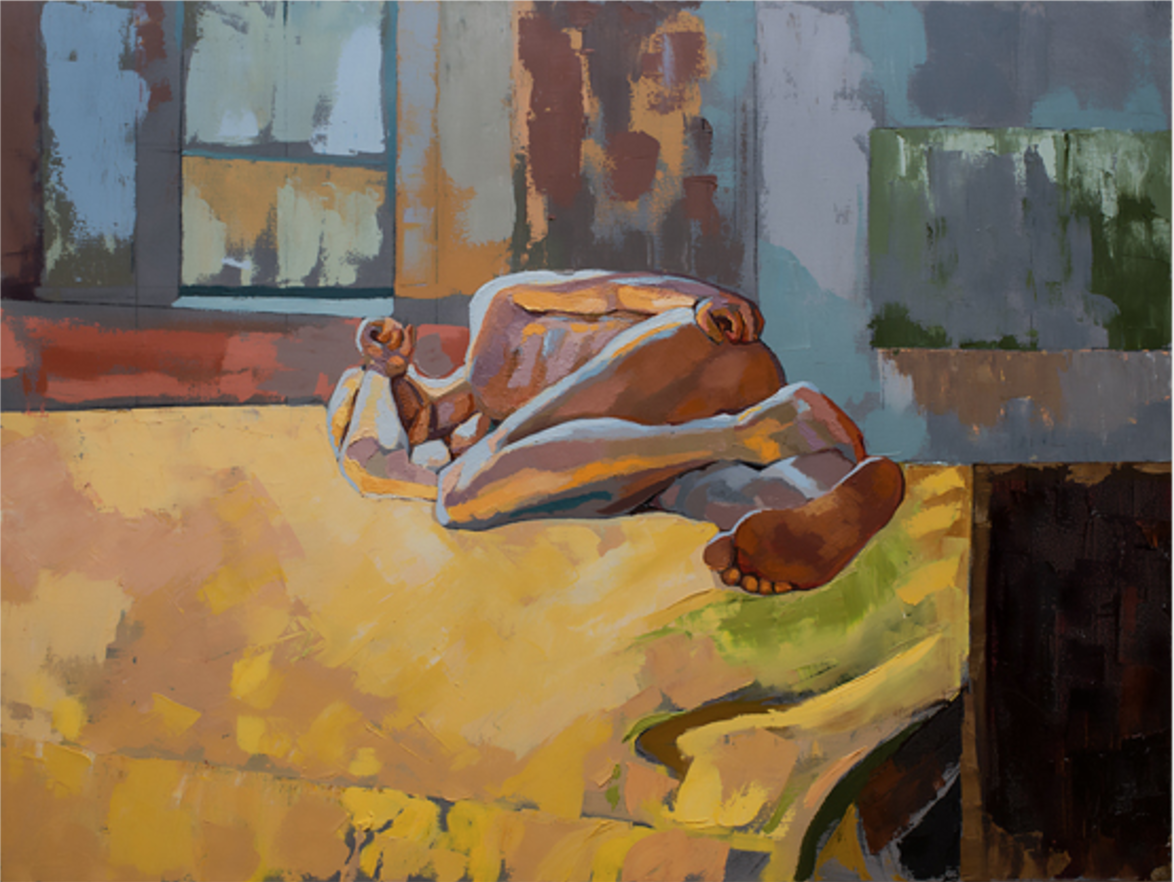 """Nude #5 36"""" by 48"""" oil on canvas"""