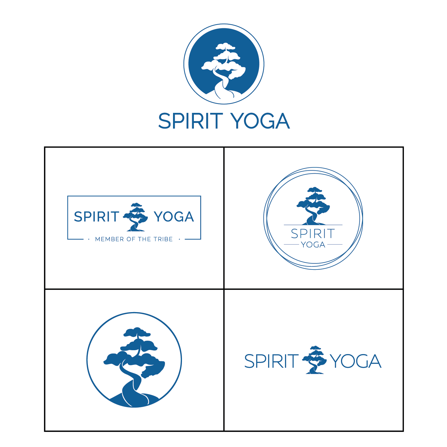 LOGO+MERCH design+REBRAND - Spirit Yoga is a thriving yoga studio based in San Diego with a focus on community for all types of individuals regardless of flexibility, age, gender or shape. The studio wanted to embody their logo redesign to reflect their comfortable atmosphere to practice and connect with others.
