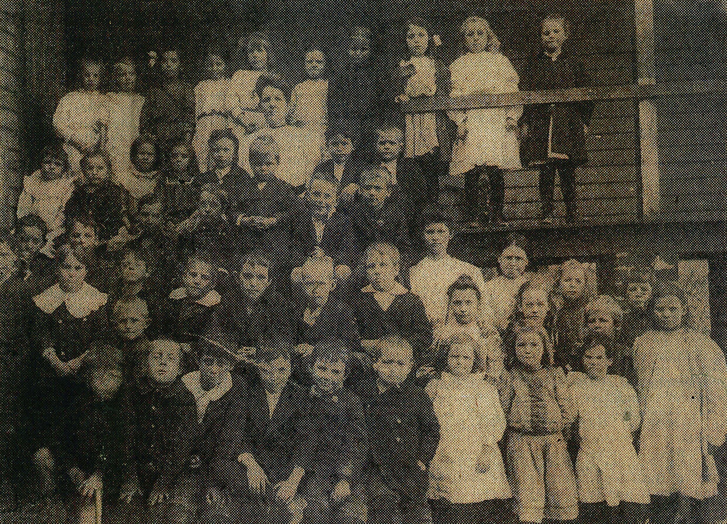 The Little Red Schoolhouse, found image on a local newspaper (original image circa 1907), 2015