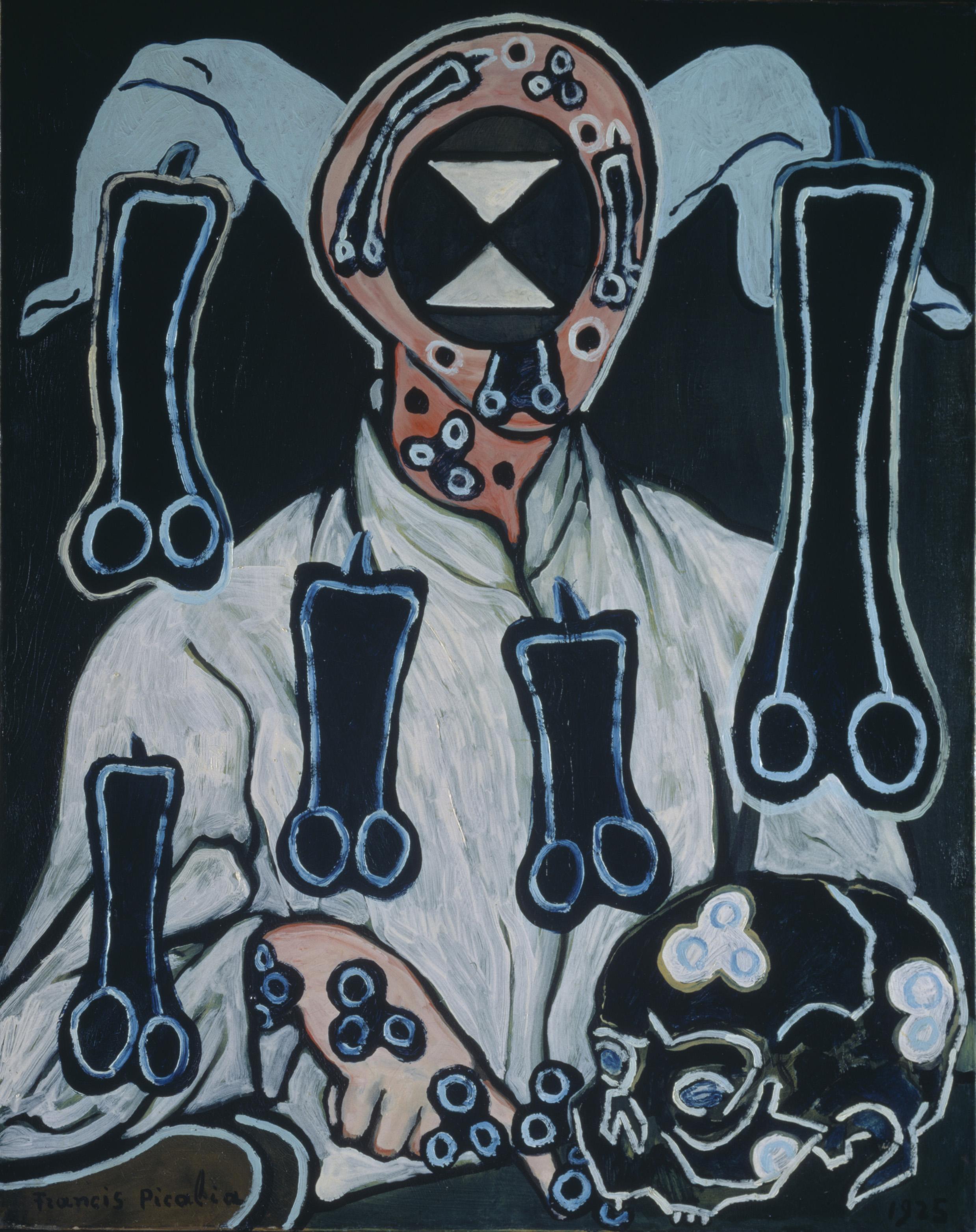 Francis Picabia (French, 1879–1953). Portrait d'un docteur (Portrait of a Doctor). 1935/c. 1938. Oil on canvas