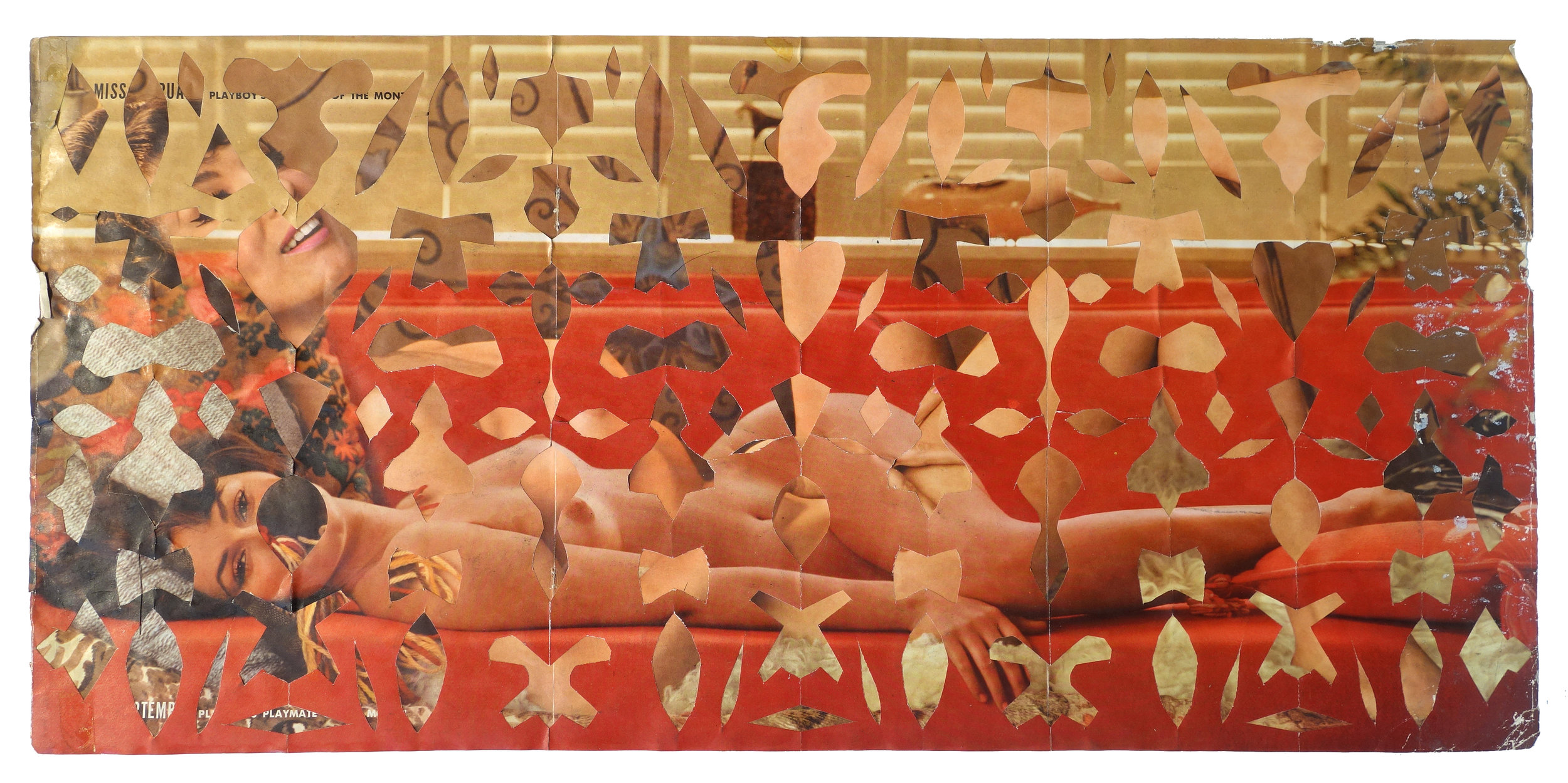 MAY WILSON (1905-1986) Untitled (Centerfold I), c. 1960s Cut paper collage Courtesy Estate of May Wilson and Pavel Zoubok Gallery