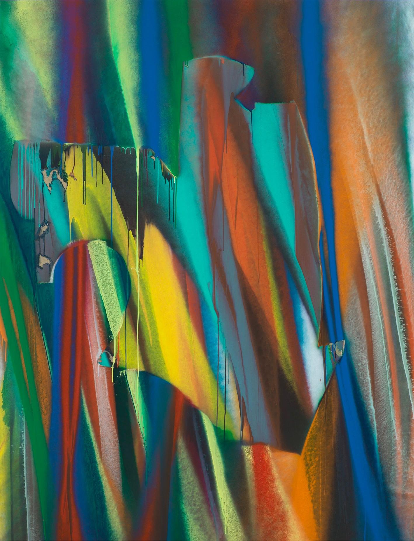 Katharina Grosse Untitled, 2016 Acrylic on canvas © Katharina Grosse und VG Bild-Kunst, Bonn 2016. Photo by Jens Ziehe. Courtesy Gagosian