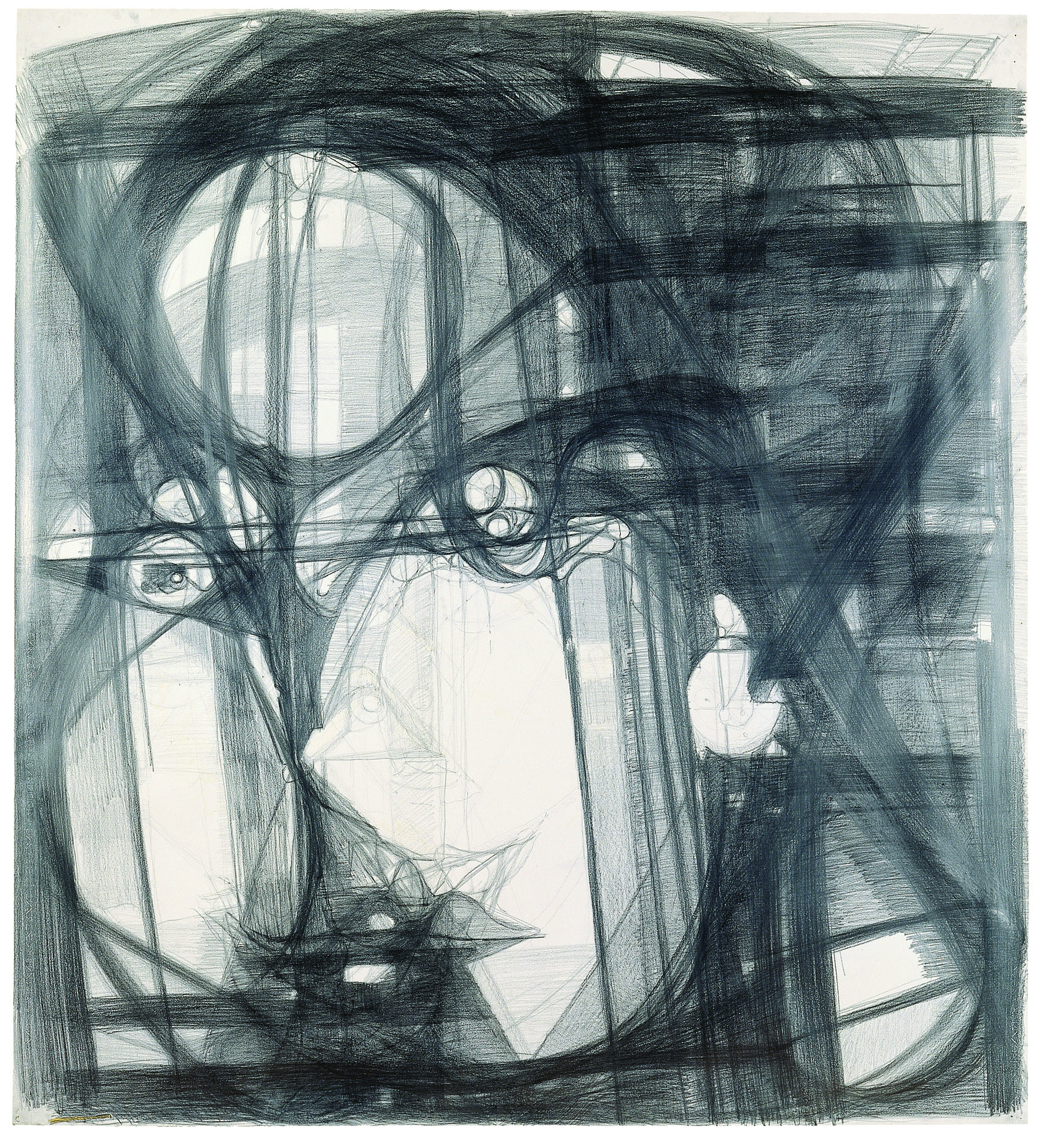 Marisa Merz, Untitled, 1993–96 Graphite on paper Kunstmuseum Winterthur Purchased with funds from the Lottery Fund of the Canton of Zurich, 1999 © Schweizerisches Institut fur Kunstwissenschaft, Zurich, Jean-Pierre Kuhn