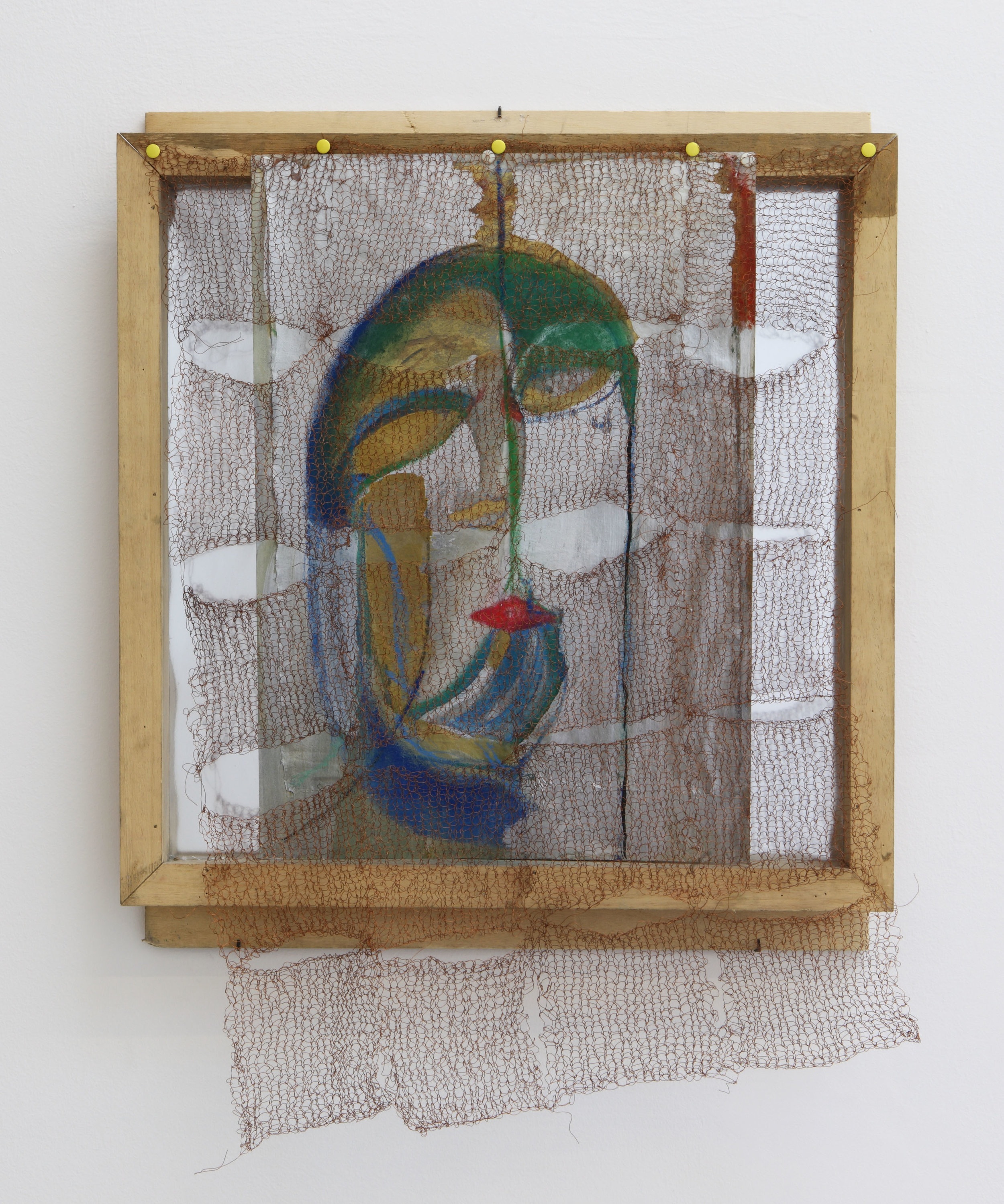 Marisa Merz, Untitled, 2009 Painted metal sheets, copper wire, wooden frame Private collection, Switzerland; courtesy of Monica De Cardenas Gallery, Milan and Zuoz Photo by Paolo Pellion di Persano