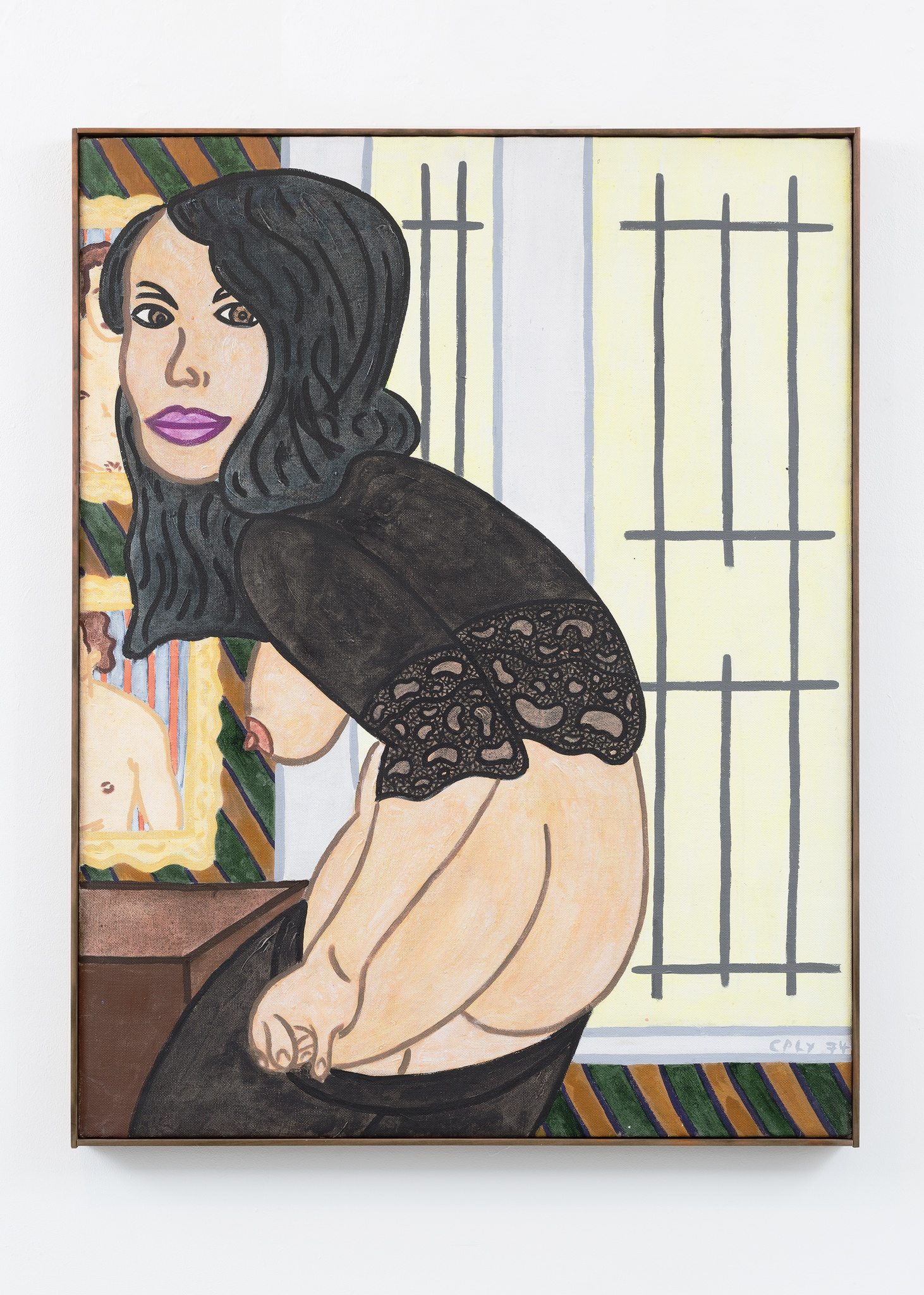 William N. Copley The Happy Hooker, 1974 acrylic on linen Courtesy of William N. Copley Estate and Paul Kasmin Gallery New York. © 2016 Estate of William N. Copley / Copley LLC / Artists Rights Society (ARS), New York