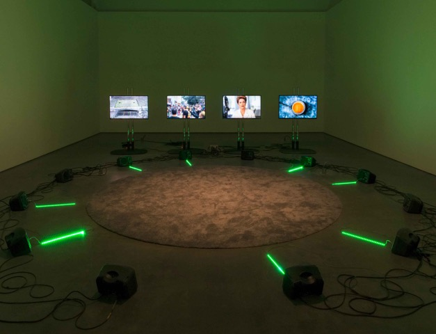 Installation view/ Haroon Mirza, ããã (2016), at Contemporary Art Gallery, Vancouver, Canada