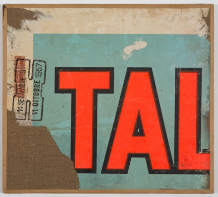 Mimmo Rotella, TAL, 1957 Décollage on canvas Copyright Mimmo Rotella Institute Courtesy Gladstone Gallery, New York and Brussels; Mimmo Rotella Institute