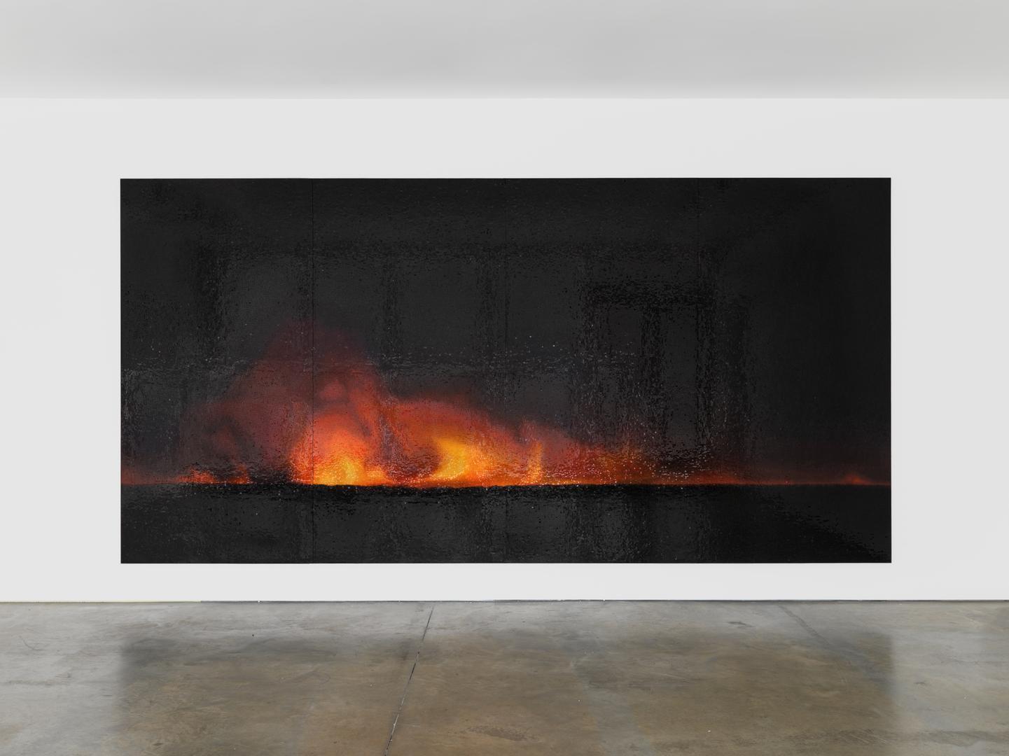 TERESITA FERNÁNDEZ  Fire (America) 5 , 2016 glazed ceramic 96 x 192 x 1.25 inches