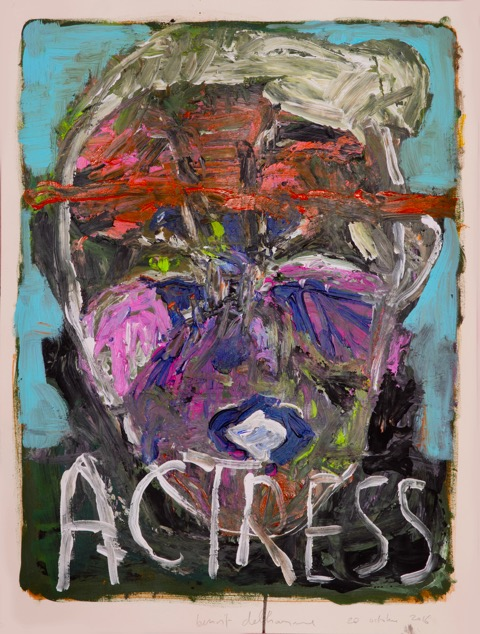 Benoit Delhomme, Director Watching His Actress, 2016 Acrylic on Arches paper