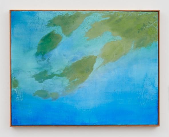 Thiago Rocha Pitta, Seascape with cianobacteria, 2017 Fresco on tile Courtesy of the artist and Marianne Boesky Gallery, New York and Aspen. © Thiago Rocha Pitta.Photo credit/ Jason Wyche.