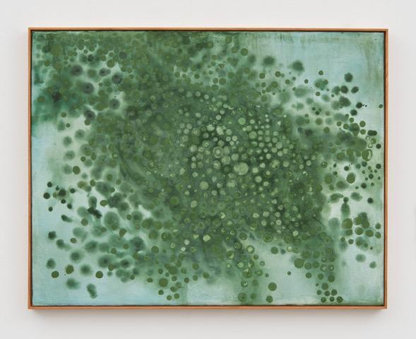 Thiago Rocha Pitta, Seascape with cianobacteria, 2017 Fresco on tile Courtesy of the artist and Marianne Boesky Gallery, New York and Aspen. © Thiago Rocha Pitta.Photo credit/ Jason Wyche