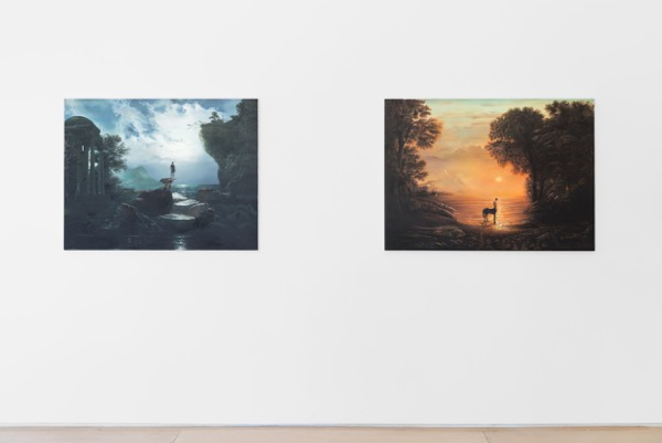 Installation View of Taner Ceylan Latest Works from the Golden Age. Photo by Diego Flores and Christopher Stach Courtesy of Paul Kasmin Gallery