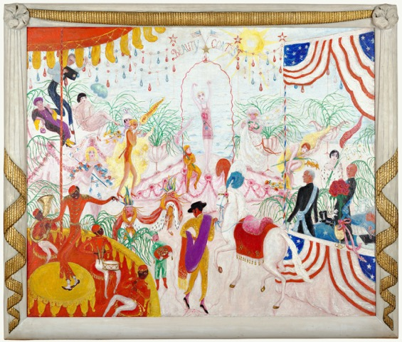 Florine Stettheimer, Beauty Contest/ To the Memory of P.T. Barnum, 1924 Oil on canvas Wadsworth Athenaeum Museum of Art, Hartford, Connecticut, Gift of Ettie Stettheimer, 1947. 1947.242