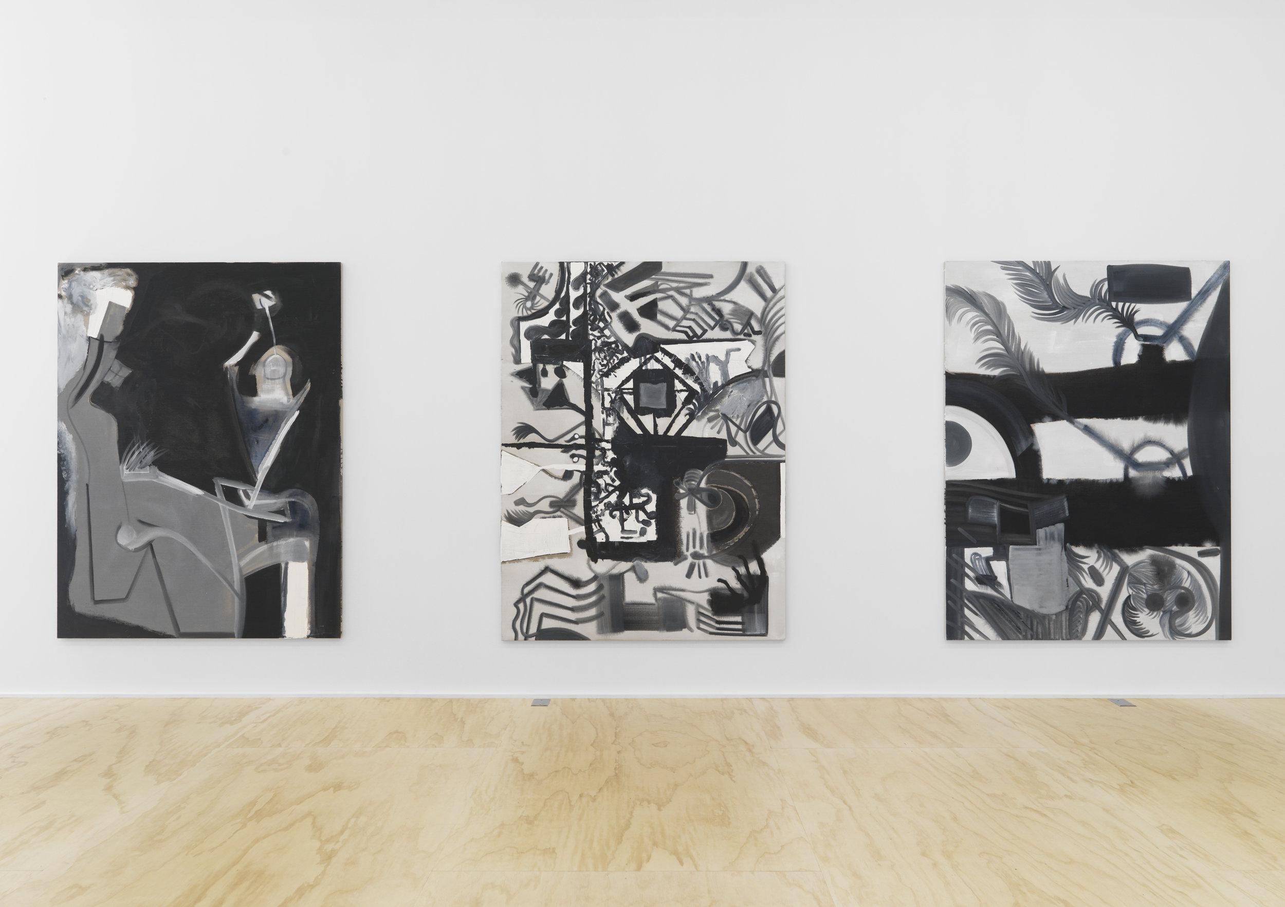 Install view of Tobias Pils at Galerie Eva Presenhuber Photo/ Matt Grubb
