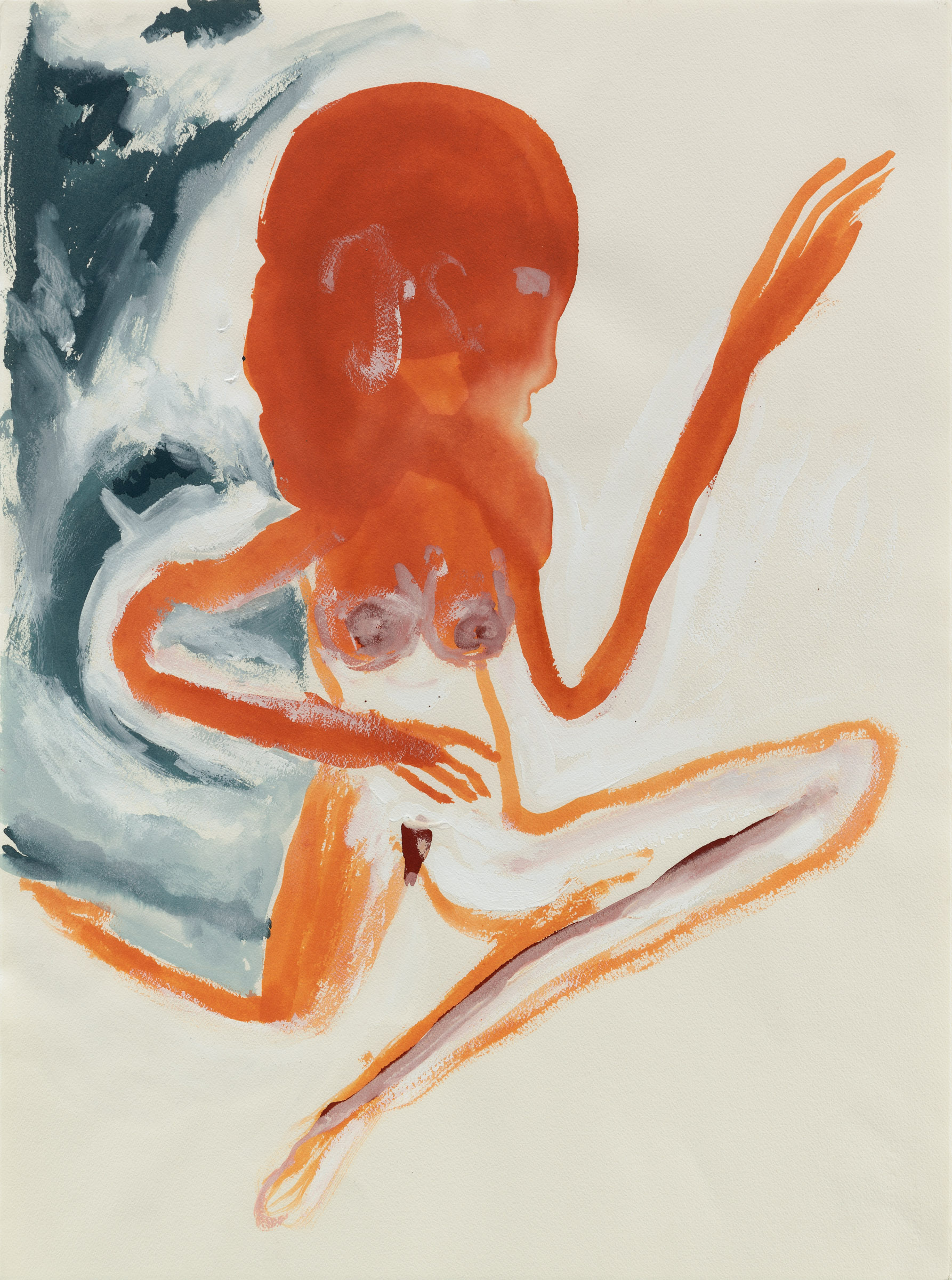 Don Van Vliet, Untitled (Woman), 1986 Gouache on paper Courtesy Michael Werner Gallery New York and London