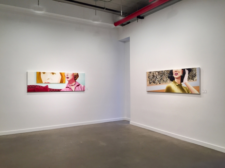 """Installation view """"Rapture"""" by James Rieck"""