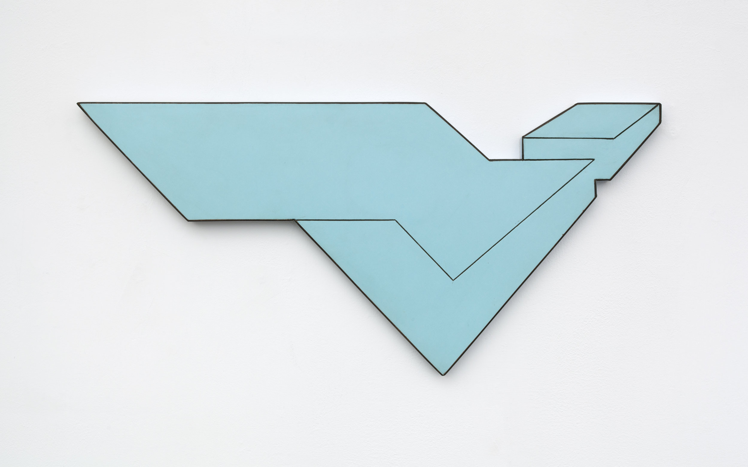 Douglas Huebler Untitled Wall Piece, May 1967 Formica on particleboard 20 1/2 x 9 5/8 x 3/4 in. (52.1 x 24.4 x 1.9 cm)© 2017 Estate of Douglas Huebler / Artists Rights Society (ARS), New York. Courtesy Paula Cooper Gallery, New York    Photo: Steven Probert