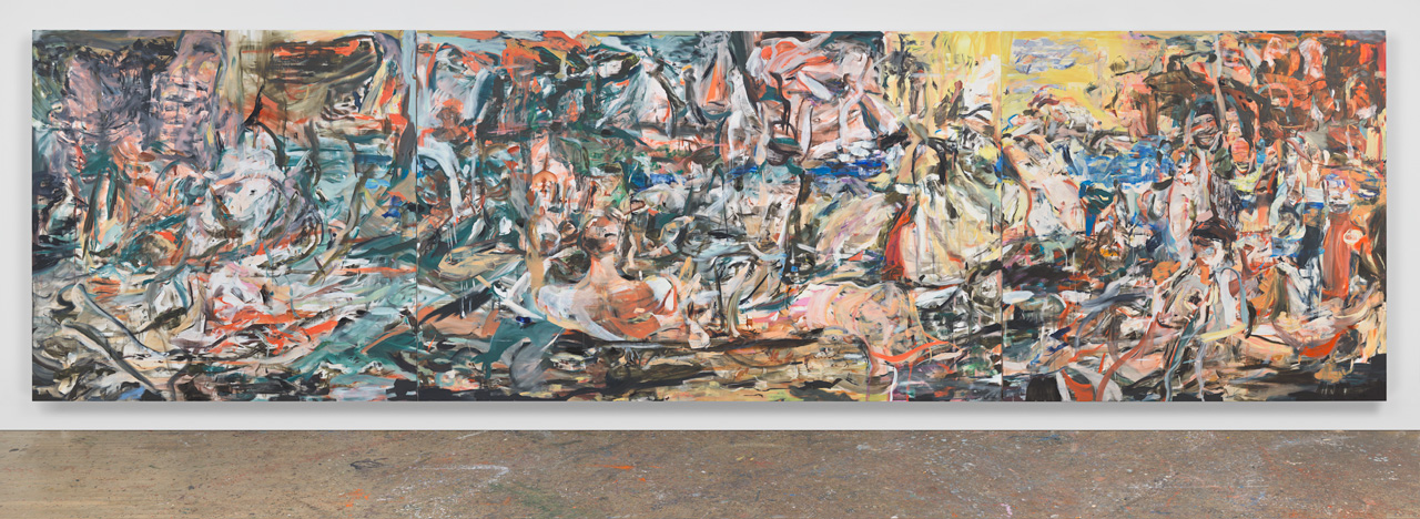Cecily Brown A Day! Help! Help! Another day!, 2016 oil on linen 109 x 397 in. (276.9 x 1008.4 cm)© Cecily Brown. Courtesy Paula Cooper Gallery, New York.