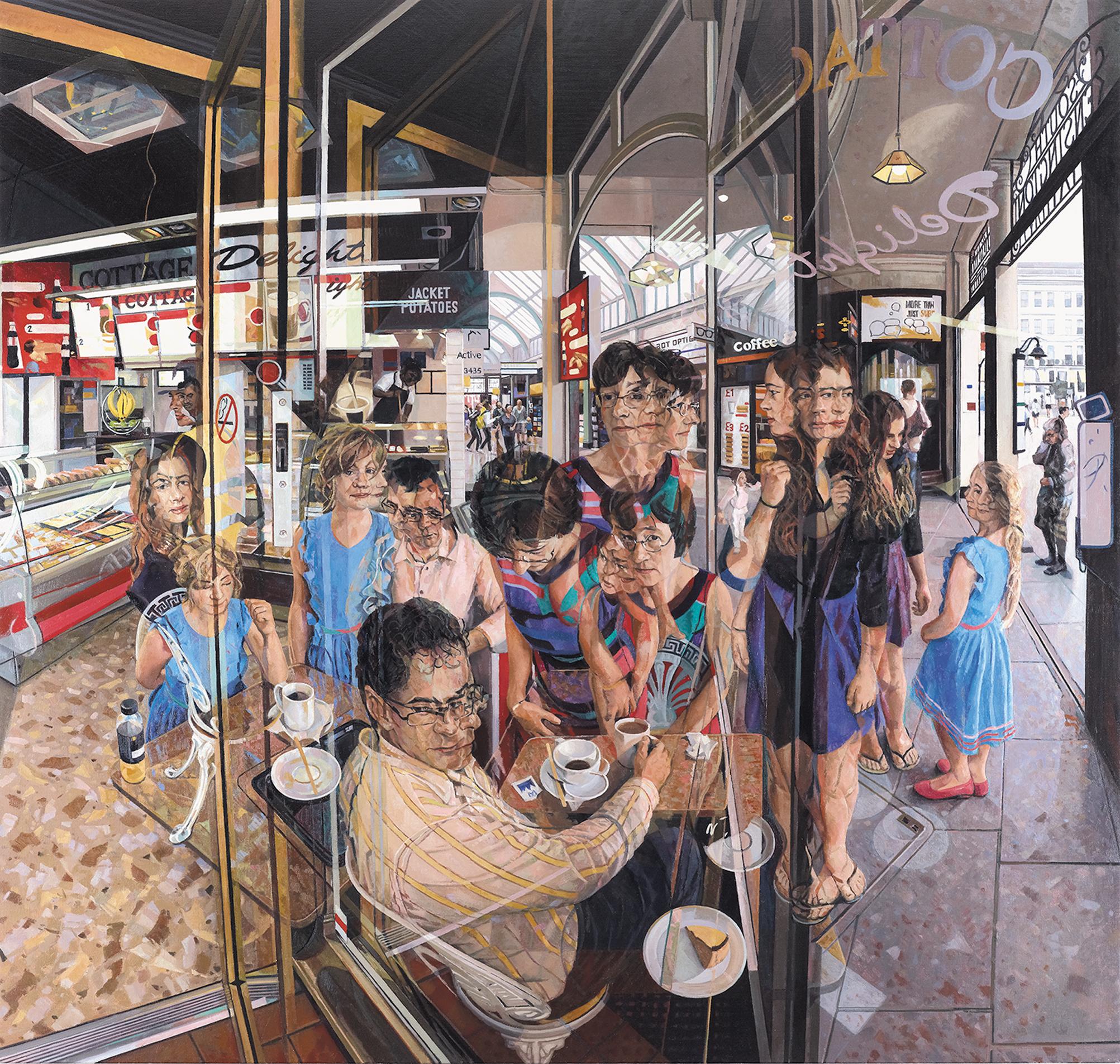 Clive Head (b. 1965)Les Souvenirs du Café Anglais, 2014 Oil on canvas 78 x 83 inches