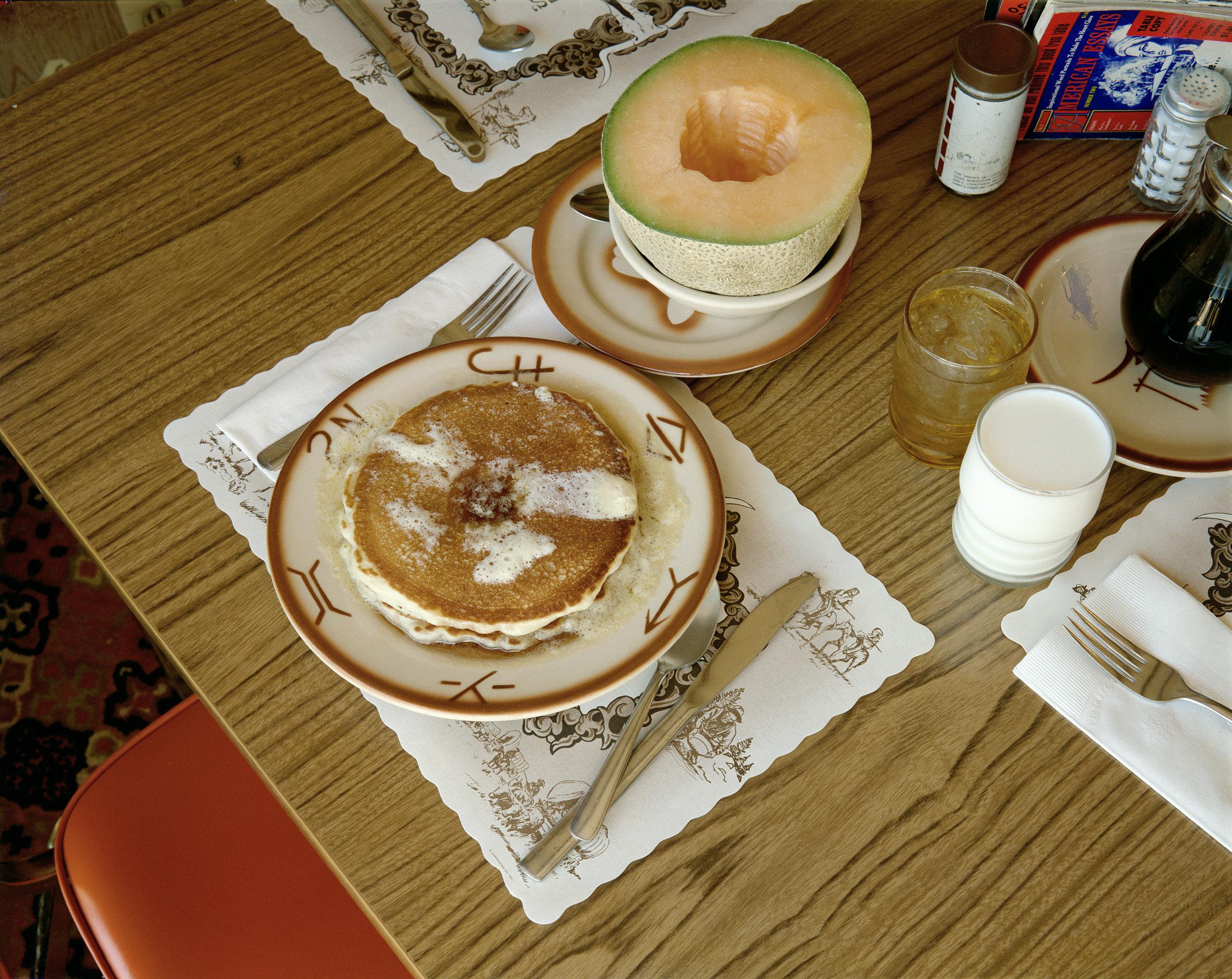 Stephen Shore.Breakfast, Trail's End Restaurant, Kanab, Utah, August 10, 1973. 1973. Chromogenic color print, 16 7/8 × 21 1/4″ (42.8 × 54 cm). The Museum of Modern Art, New York. Purchase. © 2017 Stephen Shore