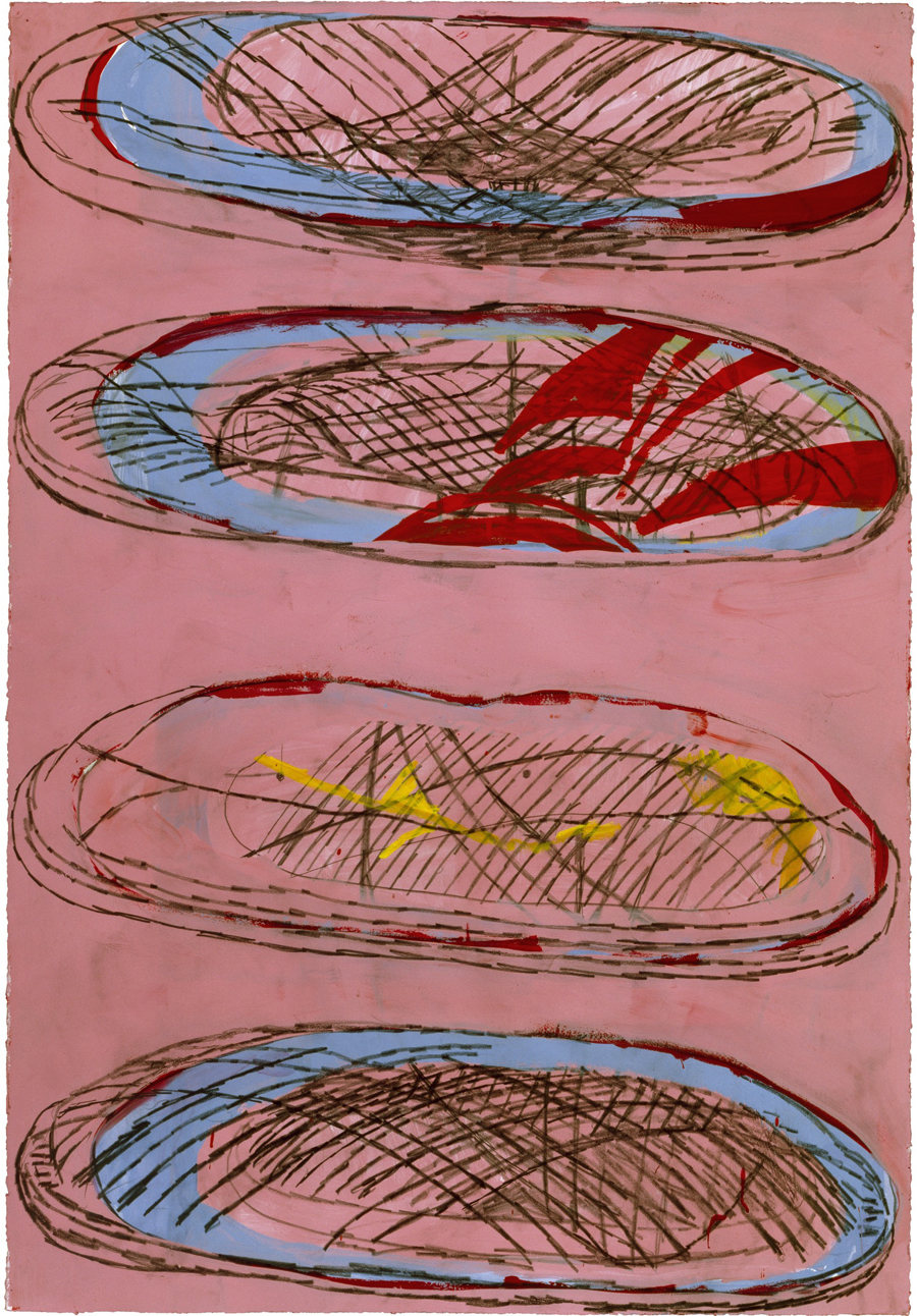 Terry Winters, Untitled (2),1999. Gouache on paper, Courtesy of the Artist