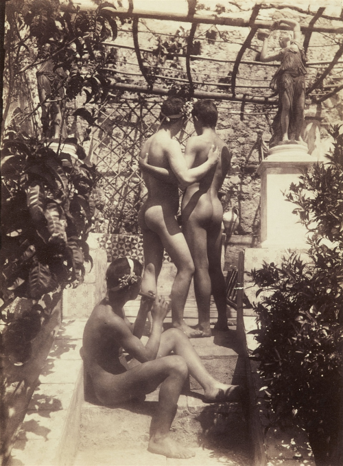 Wilhelm von Gloeden (1856-1931) Untitled 1890 - 95 Albumen print, printed 1906 9 x 6.7 in. (22.8 x 16.9 cm.)