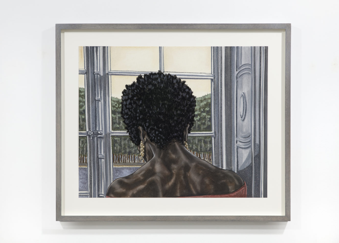 Toyin Ojih Odutola The Second Hour 2018 Charcoal, pastel and pencil on paper 19 x 24 inches Courtesy of the artist and Jack Shainman Gallery