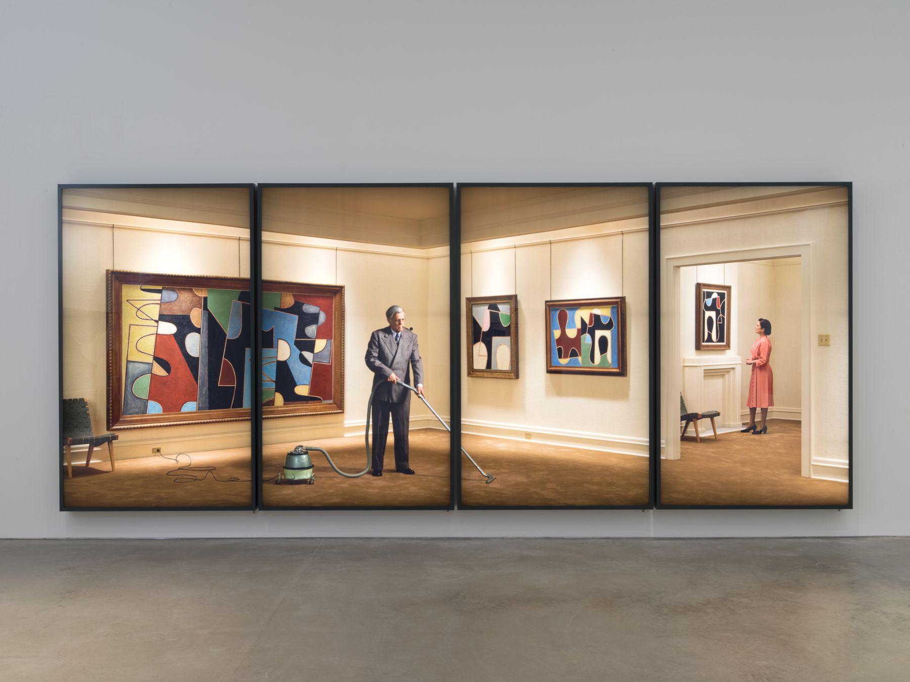 "Rodney Graham, ""Vacuuming the Gallery"", 1949"