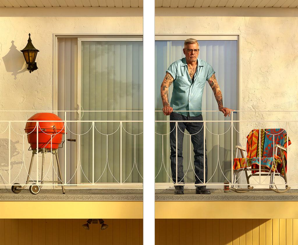 Rodney Graham Tattooed Man on Balcony, 2018