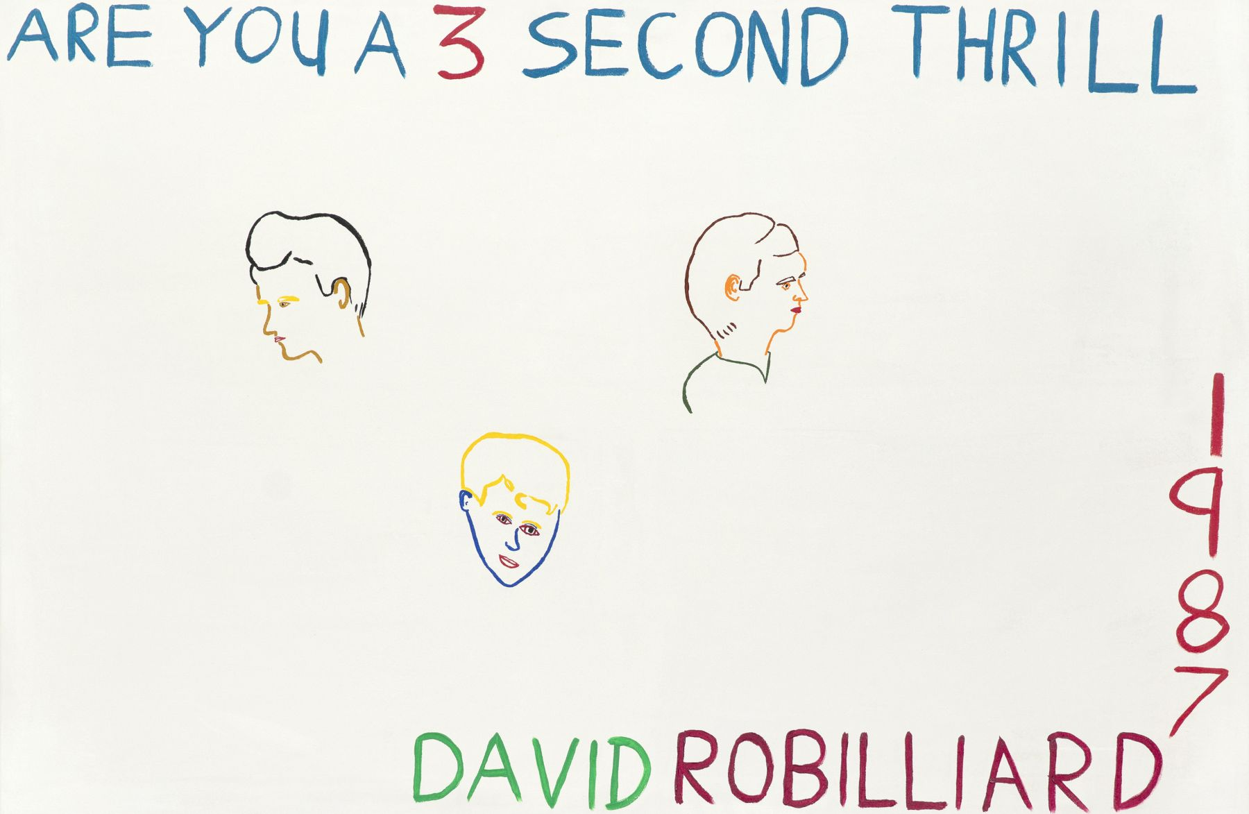 David Robilliard, Are You a 3 Second Thrill, 198
