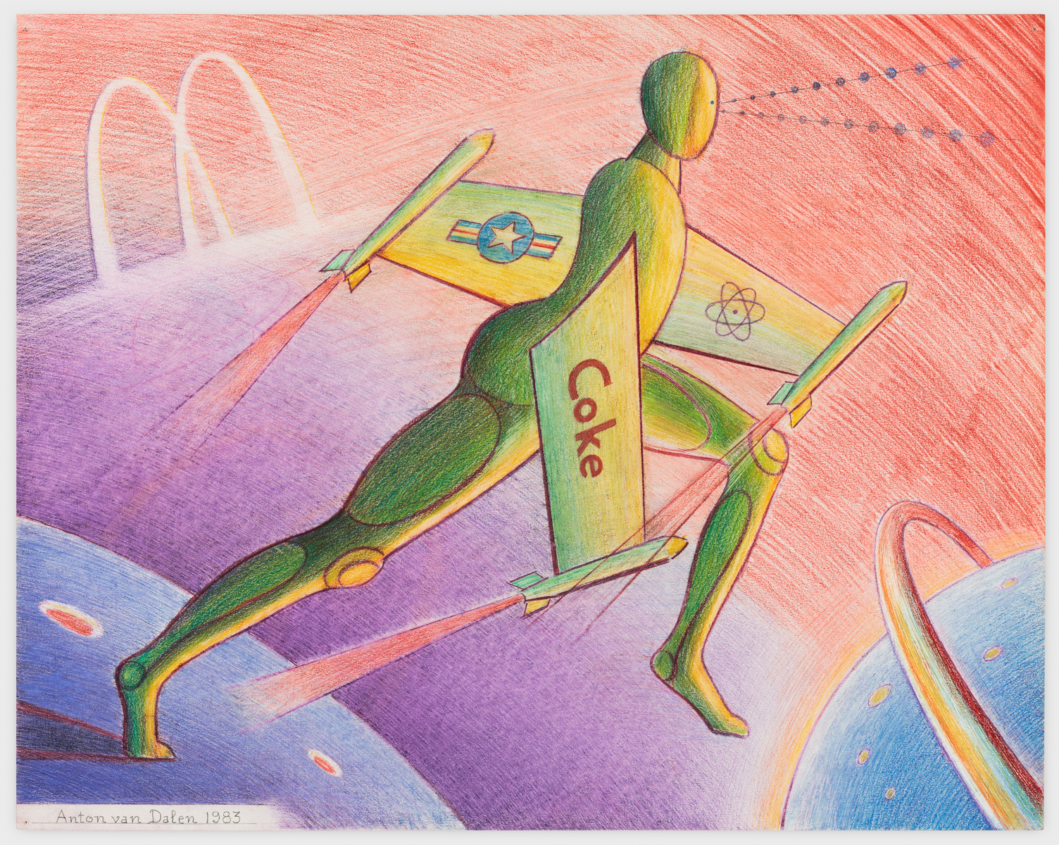 Science Fiction #3, 1983 Colored pencil on paper 23 x 29 inches