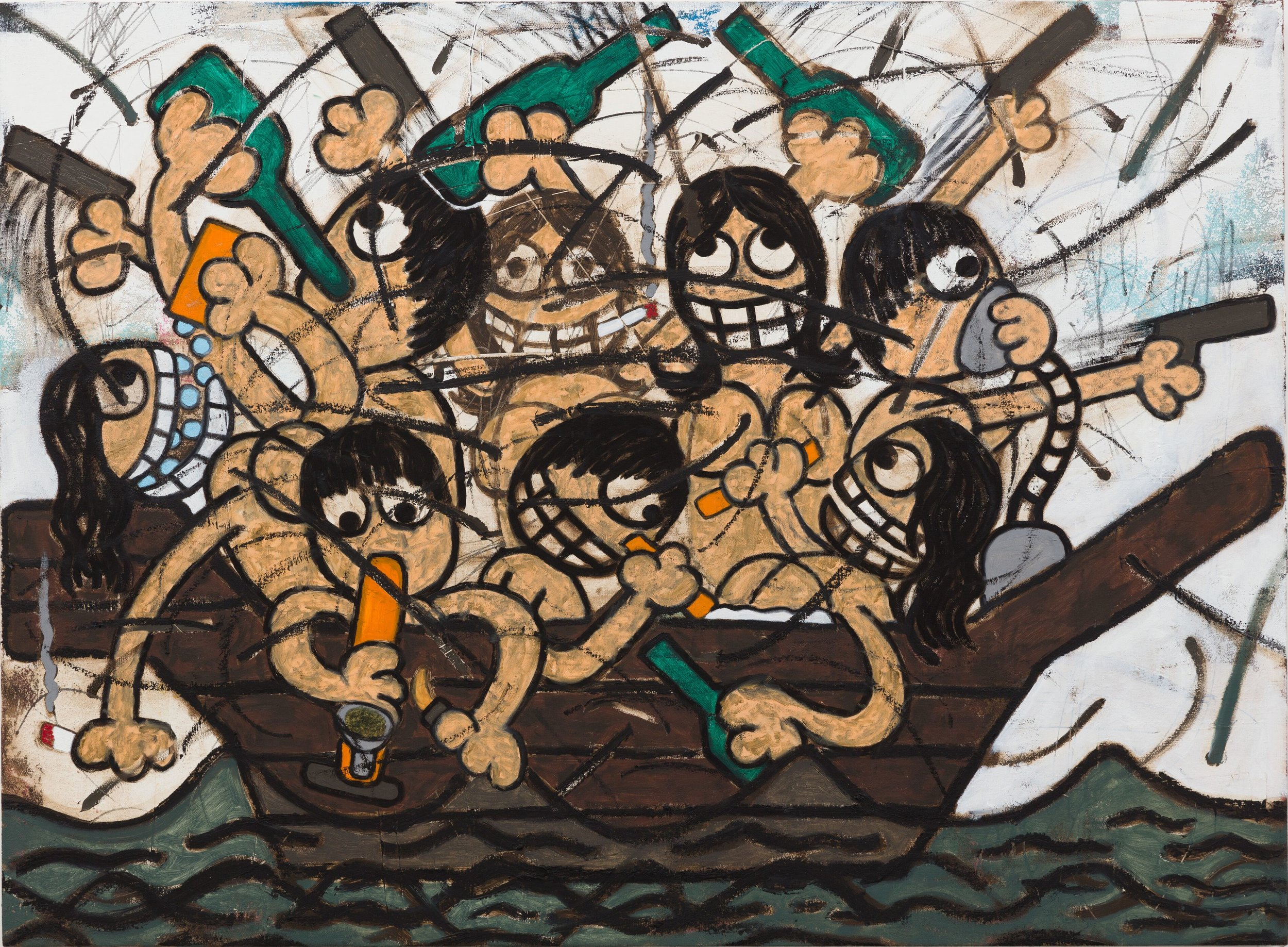 Ship of Fools , 2018 33 x 45 in (83.8 x 114.3 cm)