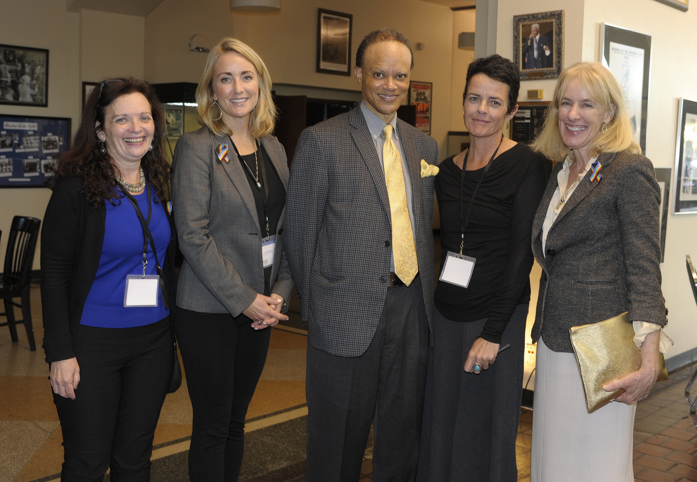 From left: Professor Miriam Marton, Professor Anna Carpenter, Hannibal B. Johnson, Professor Elizabeth McCormick, Dean Lyn Entzeroth
